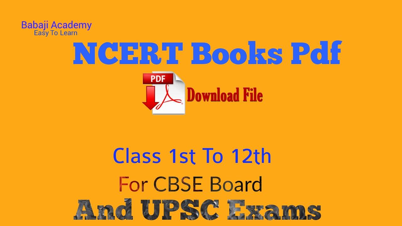 PDF BOOKS OF NCERT PDF