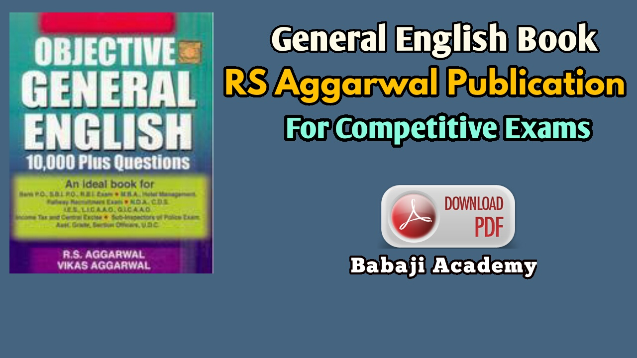 English rs aggarwal pdf general objective