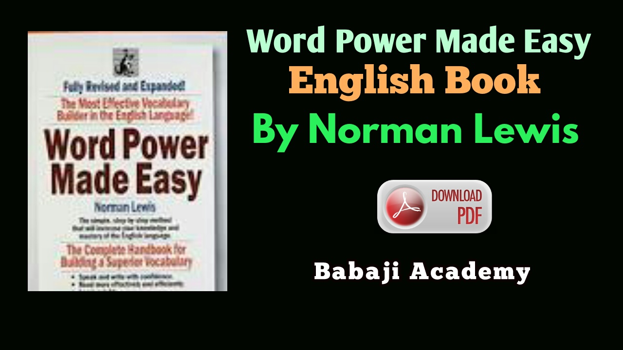 Word power made easy english book pdf