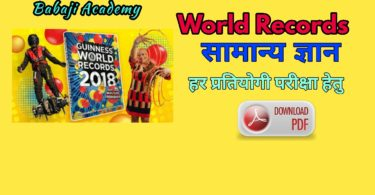 World Records General Knowledge Book Pdf Download