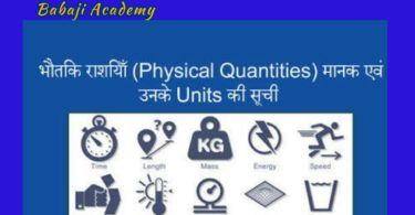Physical Quantities and measurement: Units and Measurements Pdf