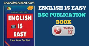 BSC Publication: English is Easy book Pdf Download