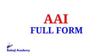 AAI Full Form, Full Form of AAI, AAI Meaning in English