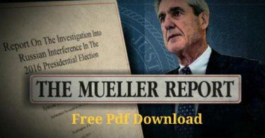 Robert Mueller Report Pdf Download free: Full Report in English