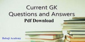 Current Affairs pdf Download