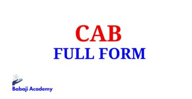CAB Full Form, Full Form of CAB, CAB Meaning in English