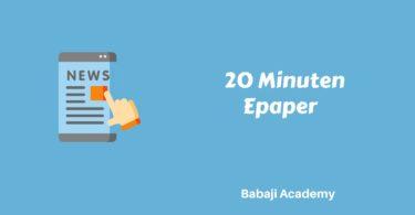 20 Minuten EPaper Pdf Download: 20 minuten Zurich