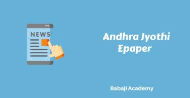 Andhra Jyothi Epaper: Daily News Paper, Latest Telugu, Epaper Andhra Jyothi