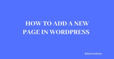 How to add a new page in wordpress: How to create page in wordpress