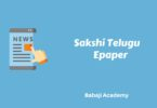 Sakshi epaper Today: Latest Telugu News Paper