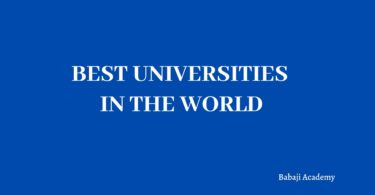 Top Universities in the world Best Universities in the world