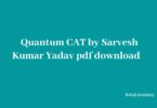 Quantum CAT by Sarvesh Kumar Verma Pdf Download