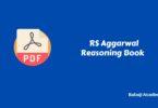 RS Aggarwal Reasoning Book Pdf Download
