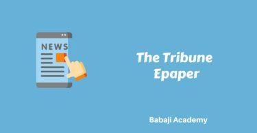 The Tribune epaper: The Tribune e paper
