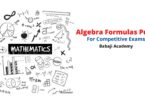 Algebra Formulas Pdf download