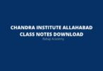 Chandra Institute Online Class Notes