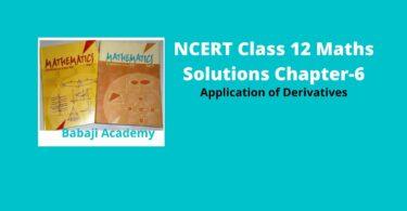 Application of derivatives solution